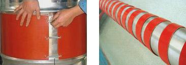 硅橡胶电加热带安装图