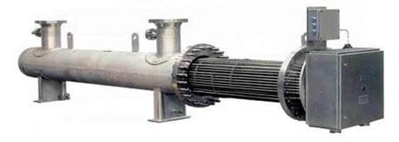 防爆卧式流体电加热器产品图