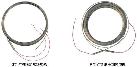 铠装MI矿物绝缘加热电缆实物图(单芯、双芯)