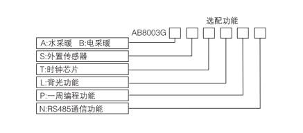 AB8003智能温控器选型表