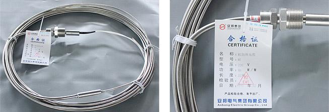 MI不锈钢矿物绝缘加热电缆实物图